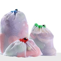 Ape Basics: Set of 12 Reusable Mesh Produce & Wash Bags image