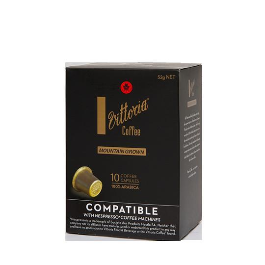 Vittoria Mountain Grown Compatible Coffee Capsules