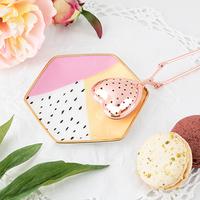 Pinky Up: Ceramic Tea Tray - (Color Blocked)