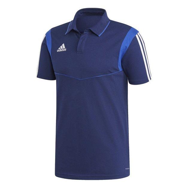Adidas: Tiro 19 Cotton Polo - Blue/White (XL)