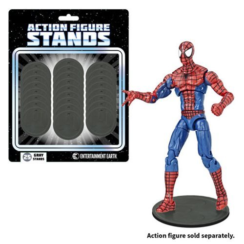 Action Figure Stands - Grey (25-Pack)