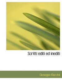 Scritti Editi Ed Inediti by Giuseppe Mazzini image