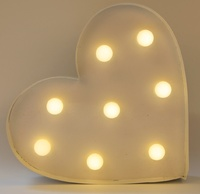 LED Heart Wall Decoration - White