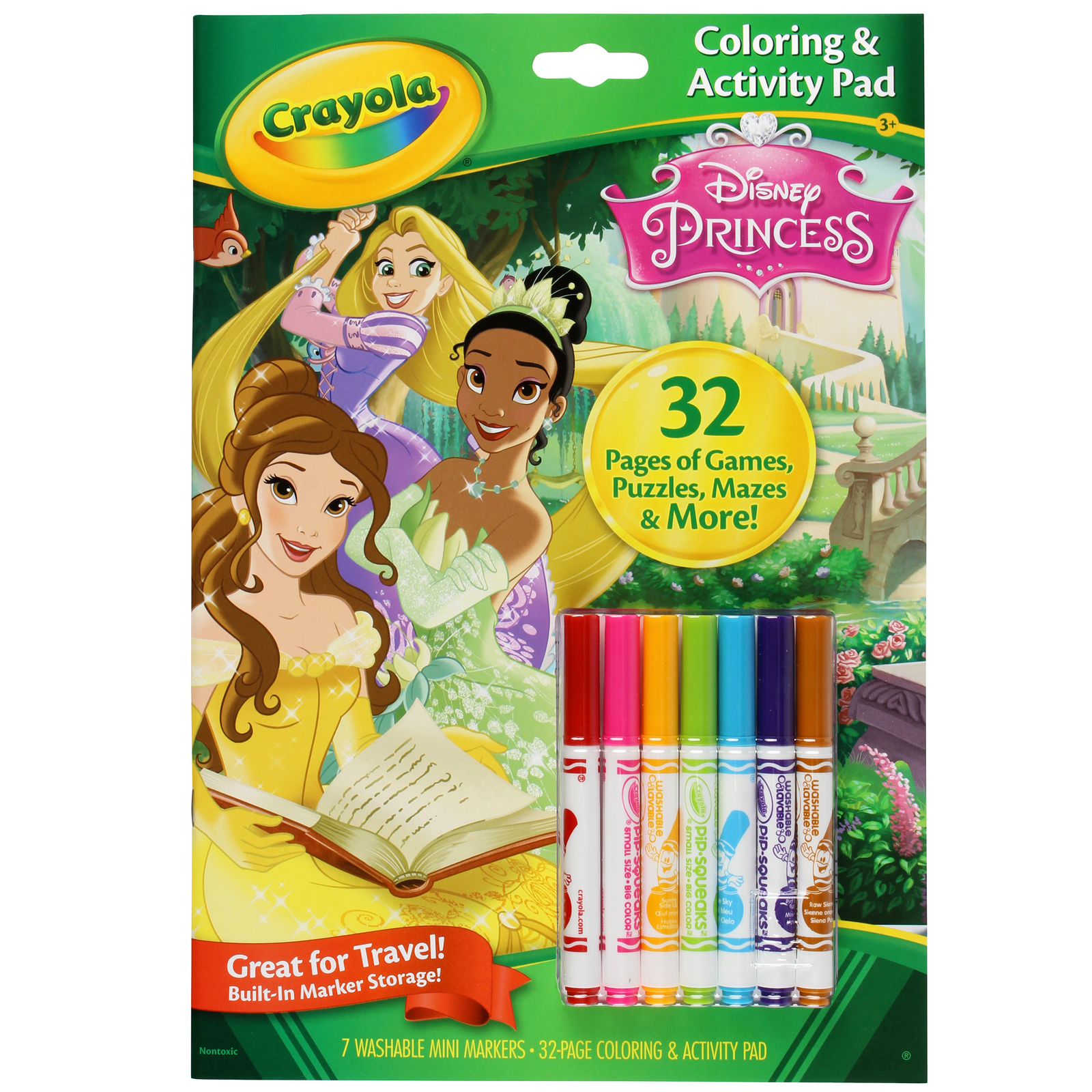 Crayola Disney Princess Colouring Pad Markers Image