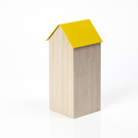Block Design: Storage House Desk Caddy (Large Yellow)