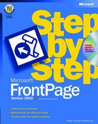 Microsoft FrontPage 2002 Step by Step by Catapult image