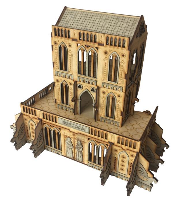 TTCombat: Tabletop Scenics - Gothic Ruined Servitialis