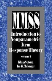 Introduction to Nonparametric Item Response Theory by Klaas Sijtsma image