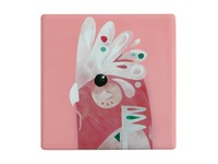 Maxwell & Williams: Pete Cromer Ceramic Square Tile Coaster - Galah (9.5cm)