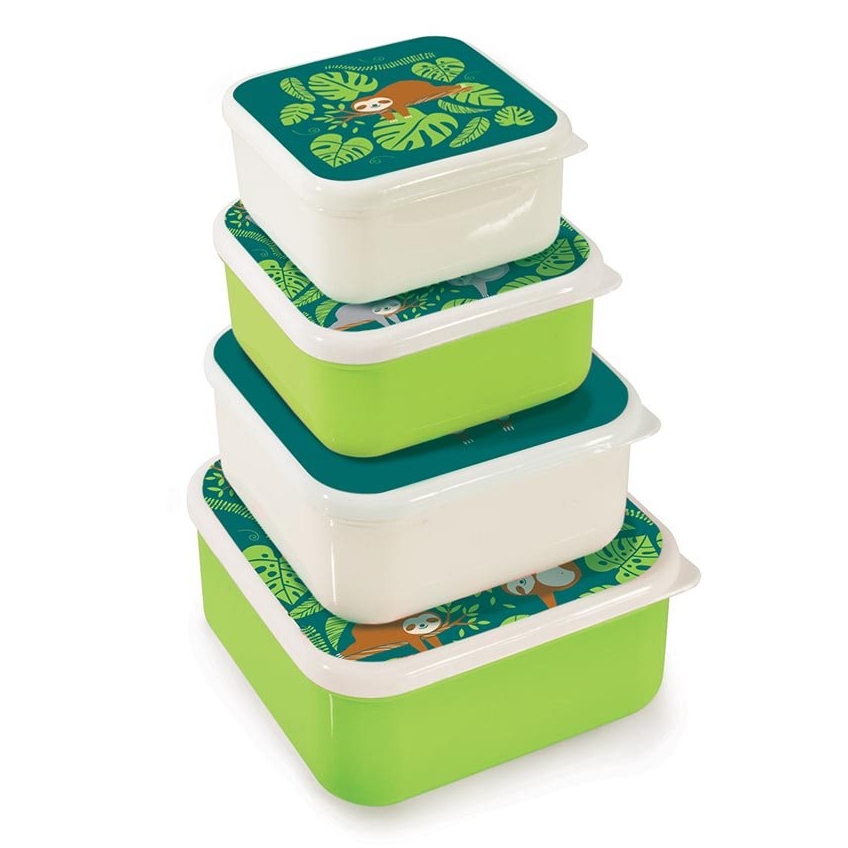 IS Gift: Fun Times Nesting Lunch Boxes - Sloths (Set of 4) image