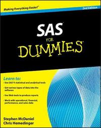 SAS For Dummies by Stephen McDaniel image
