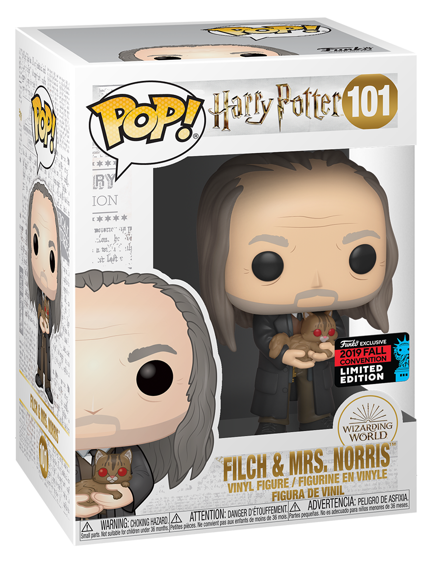Harry Potter: Filch & Mrs Norris (Yule Ball) - Pop! Vinyl Figure image