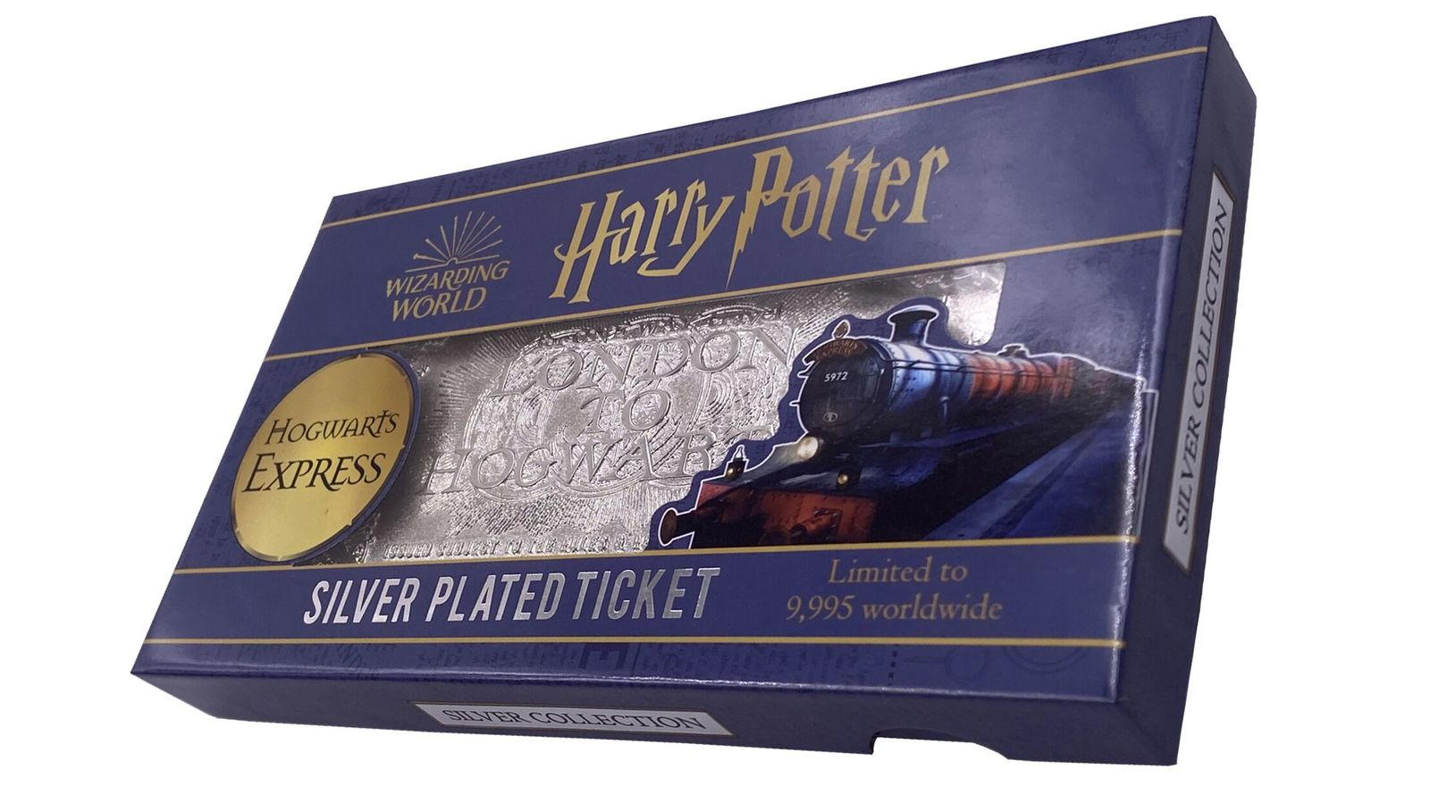 Harry Potter: Hogwarts Express Train Ticket (Silver Plated) - Metal Replica image