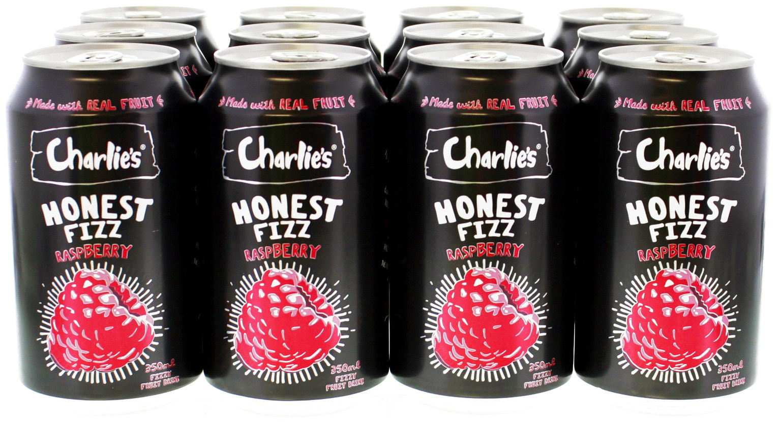 Charlie's Honest Fizz - Raspberry (350ml) image