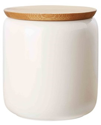 Maxwell & Williams White Basics Canister Bamboo Lid 900ML Gift Boxed