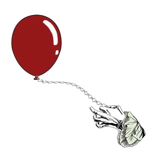 It (2017): Pennywise Holding Balloon - Enamel Pin image