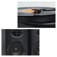 mBeat Pro-M Black Bluetooth Turntable with Speakers image