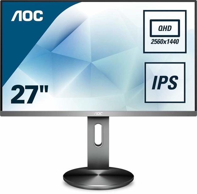 """27"""" AOC IPS QHD VGA HDMI DP Business Monitor"""