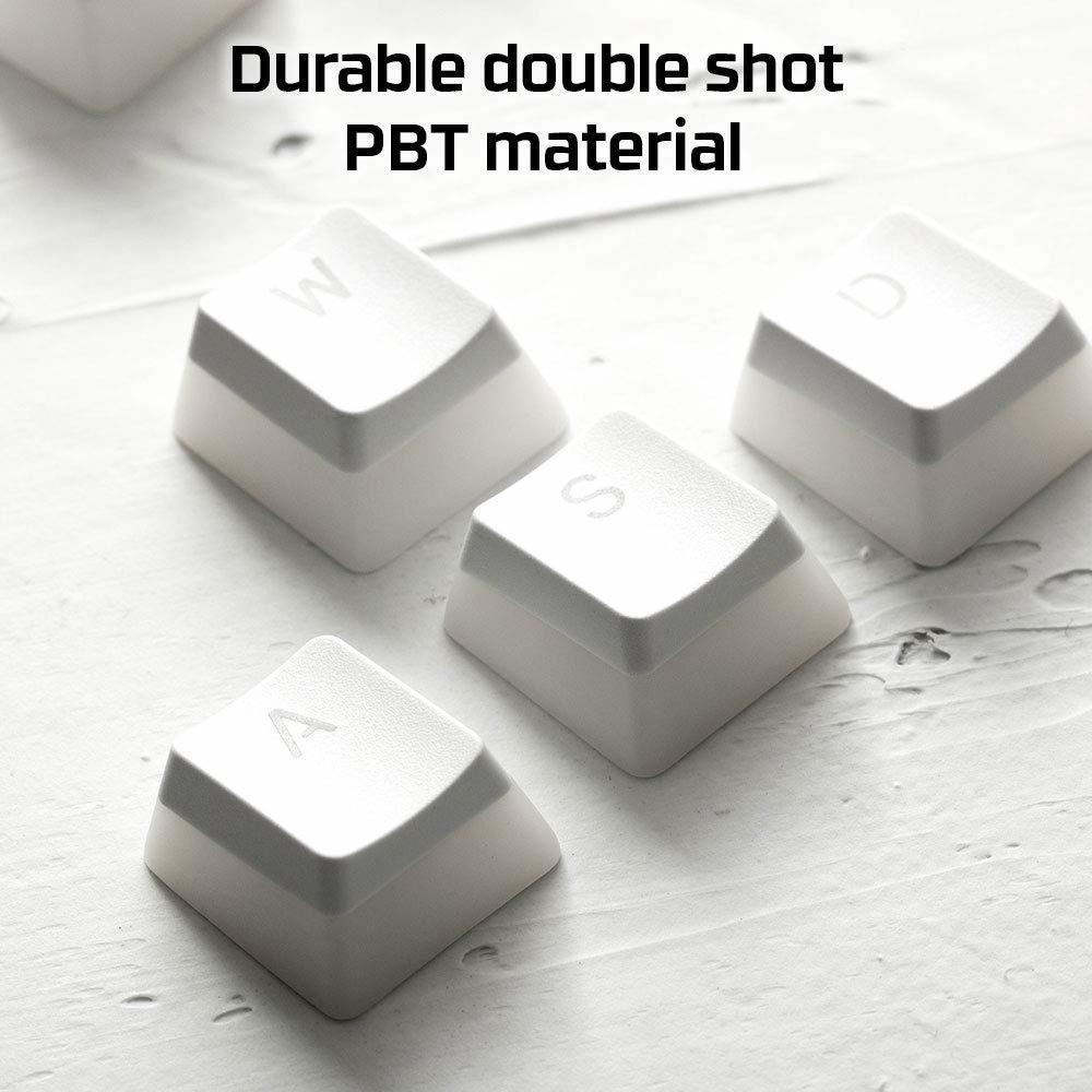 HyperX Double Shot PBT Keycaps (White) for PC image