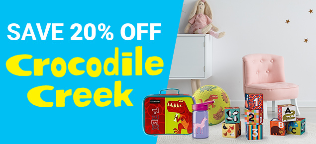 20% off Crocodile Creek!