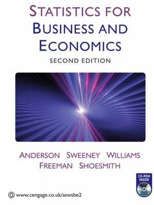 Statistics for Business and Economics by R Anderson image