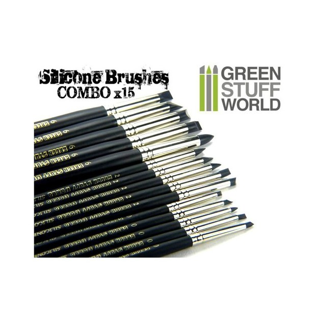 Colour Shapers Brushes Combo 0, 2 and 6 - BLACK FIRM