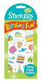 Peaceable Kingdom: Glitter & Foil Stickers - Birthday Fun