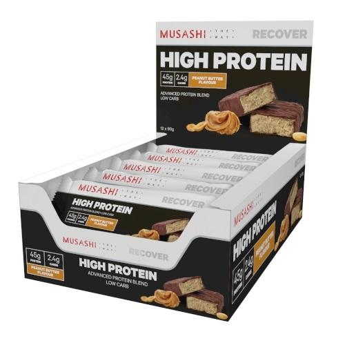 Musashi: High Protein Bar - Peanut Butter (Box of 12)
