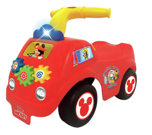Kiddieland: Fire Truck Activity Ride-On - Mickey Mouse