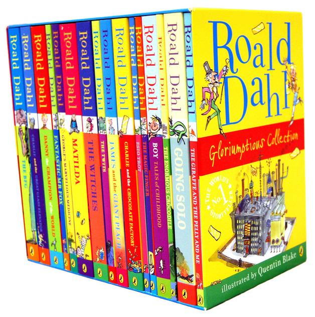 Roald Dahl Box Set 16 Books Gloriumptious Collection Roald Dahl