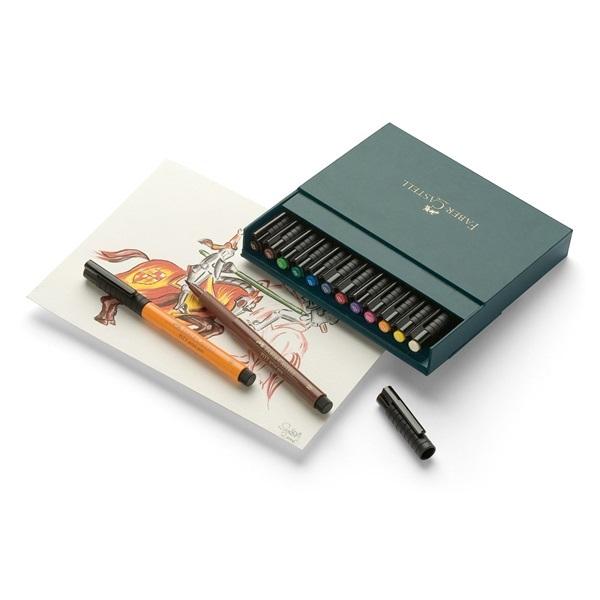 Faber-Castell : Pitt Artist Pens B Studio (Box of 12)
