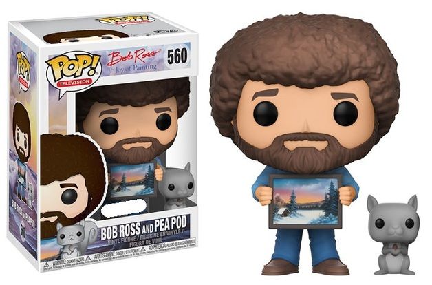 The Joy of Painting - Bob Ross (with Pea Pod) Pop! Vinyl Figure