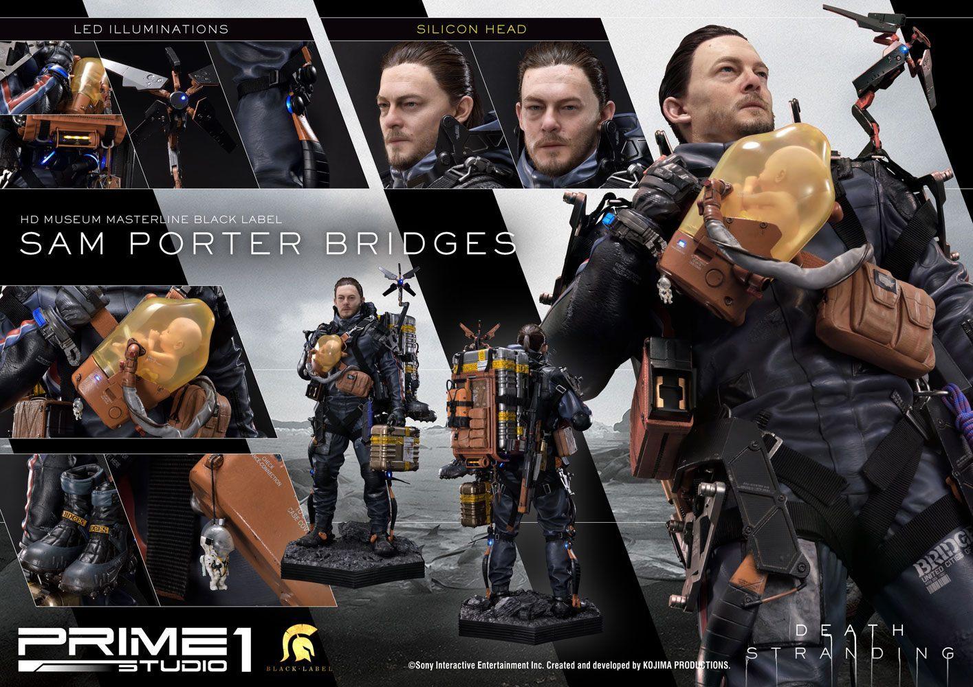 """Death Stranding: 1/2 Sam Porter Bridges Black Label - 42"""" Premium Statue image"""