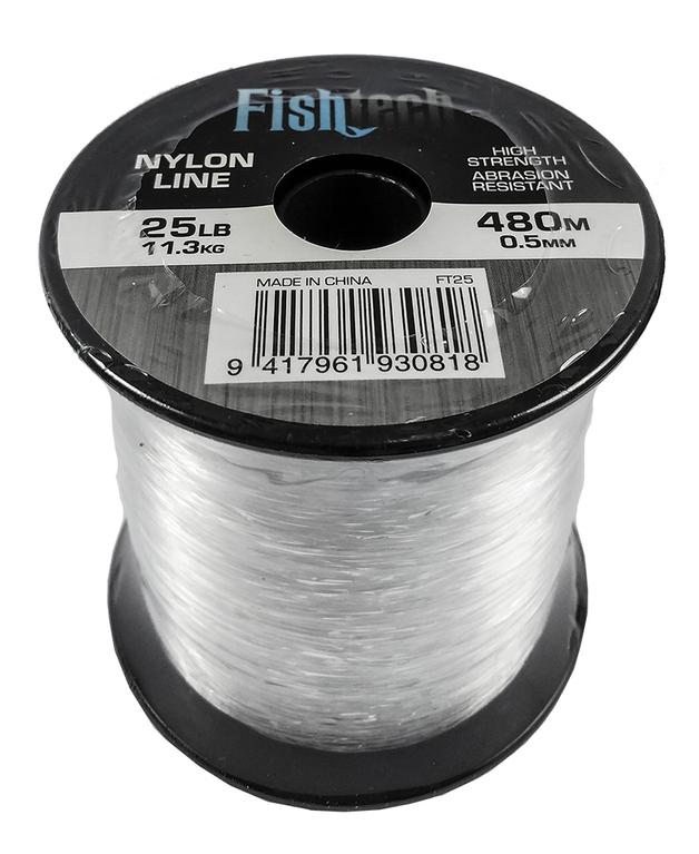 Fishtech 1/4 Pound Nylon Spool 25lb 480m