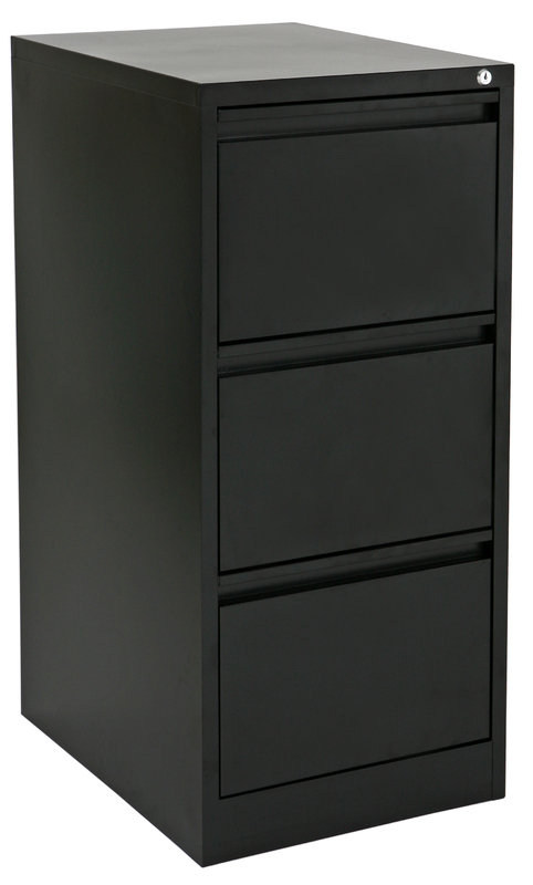 Proceed Lockable Filing Cabinet 3 Drawer - Black