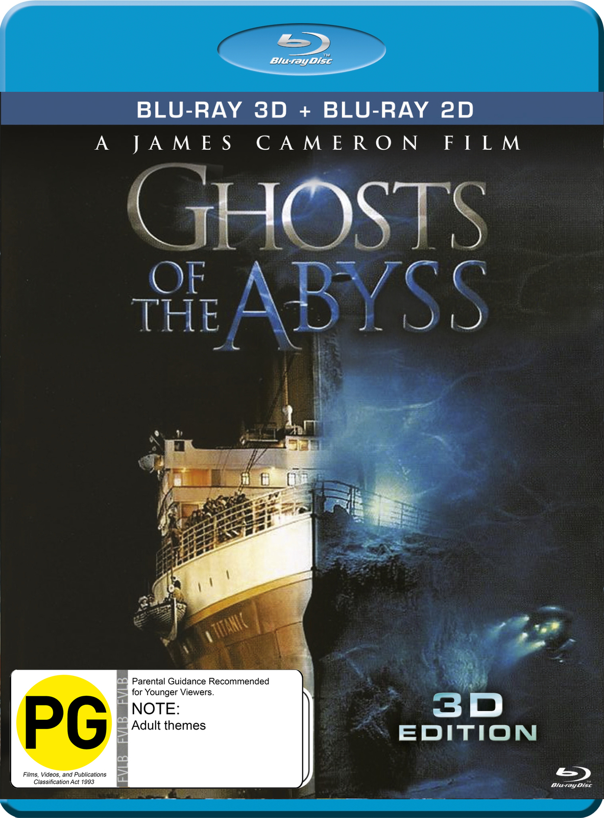 Ghosts Of The Abyss on Blu-ray, 3D Blu-ray image