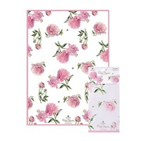 Pink Peonies Kitchen Towel Cotton