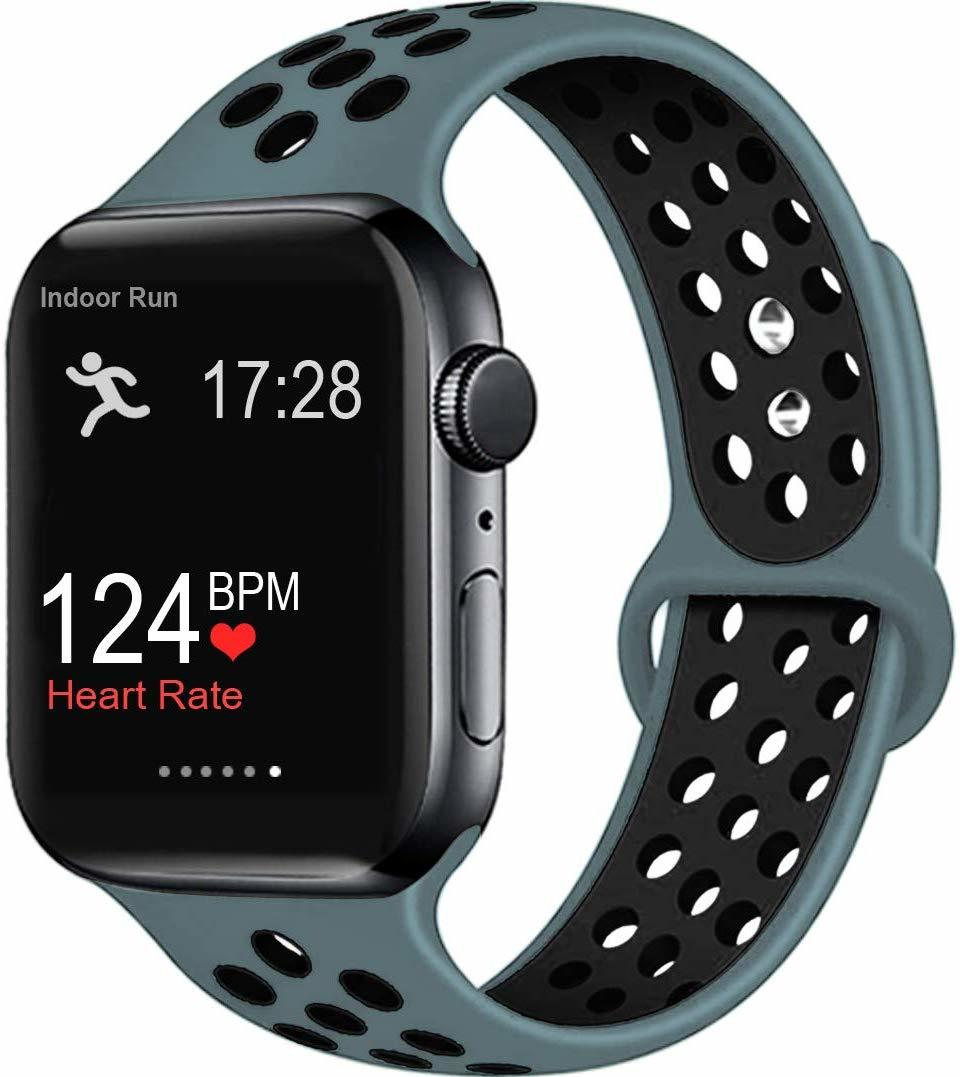 Ape Basics: Replacement Sport Band for Apple Watch - Green/Black (42mm/44mm, 220mm) image