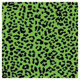 SKINZ Flocked Book Cover - Green Leopard