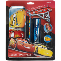 Disney Cars 3 Tin Case Stationery Set