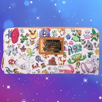 Loungefly Pokemon Multi Character Print Zip Around Wallet image