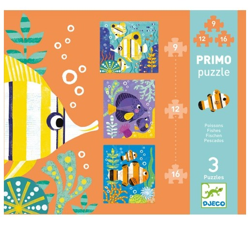 Djeco: Primo Puzzle Set - Fishes