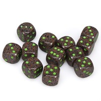 Chessex: D6 16mm Speckled Dice - Earth