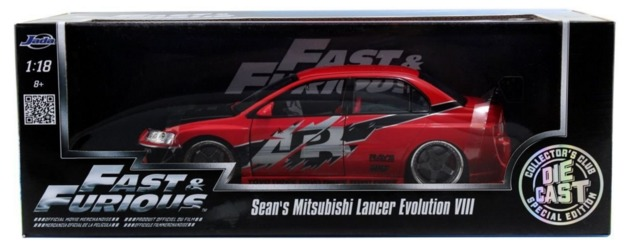 Jada: 1/18 Sean's Lancer Evo 8 - Diecast Model