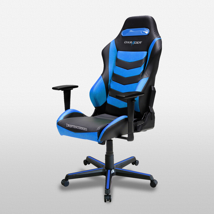 DXRacer Drifting Series DM166 Gaming Chair (Black and Blue) for  image