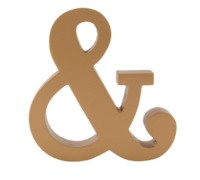 Gold Monogram Ampersand Standing Decoration