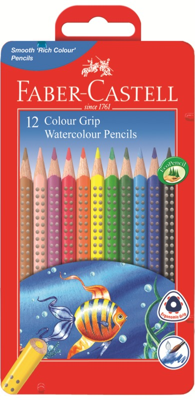 Faber-Castell: Grip Watercolour (Tin of 12)
