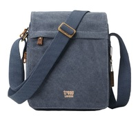 Troop London: Classic Flap Front Shoulder Bag - Blue