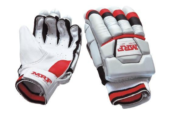 MRF Unique Jr Batting Gloves Blue/White (LH) - Youth