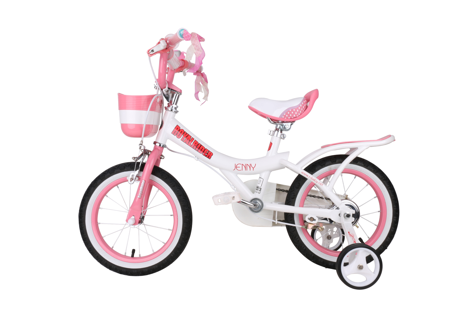 """RoyalBaby: Jenny G-4 - 12"""" Girl's Bike (White) image"""